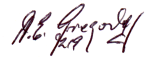 Autograph of Albert Gregory